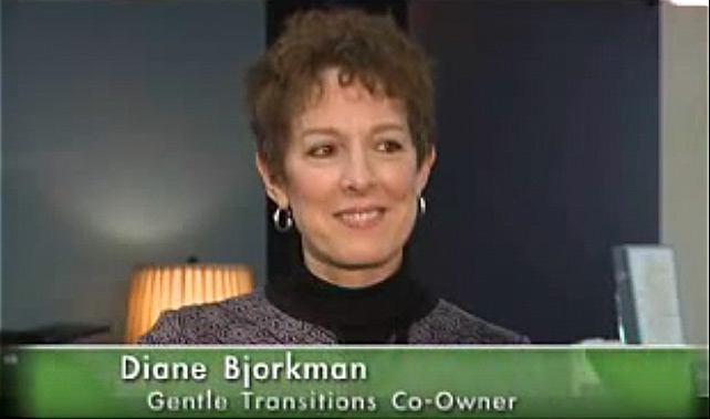 Gentle Transitions co-owner, Diane Bjorkman appearing on the TV show, In Edina